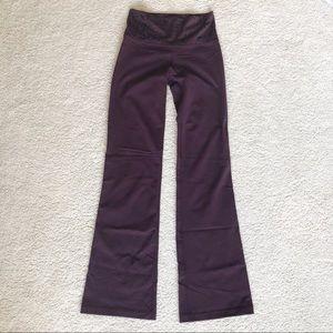 Lululemon Purple Flare Yoga Pants 4